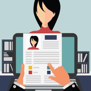 Resume clip art placeholder